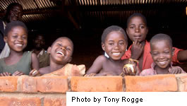 Boys from Mbang'Ombe village in Malawi